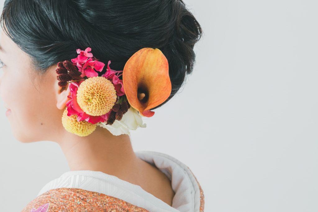 生花 髪飾り
